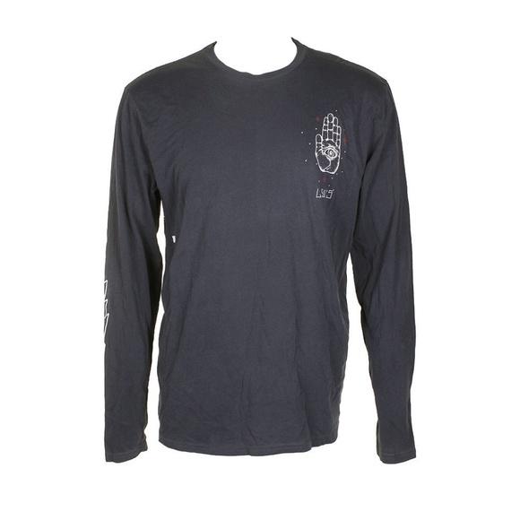 ff47ceabb0958e Levi's Shirts | Levis Blue White Longsleeve Hand Graphic T Shirt ...